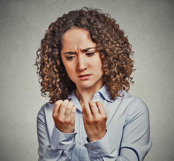 Women affected with Nail Disorder