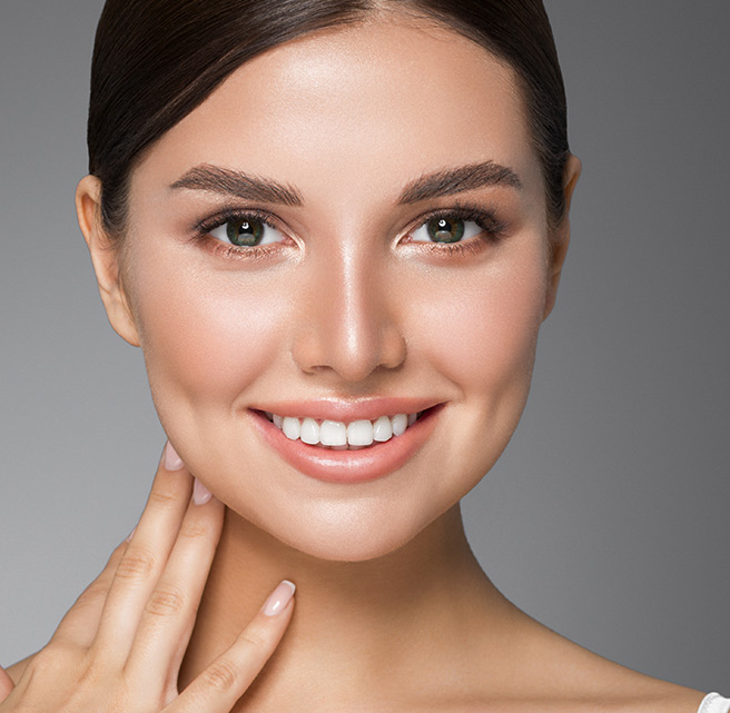 Women undergone smile lines treatment